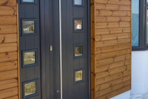 Grey composite entrance door from Associated Windows in Bristol