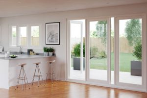 white upvc French door Bristol