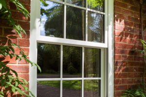 uPVC timber sliding sash window Bristol