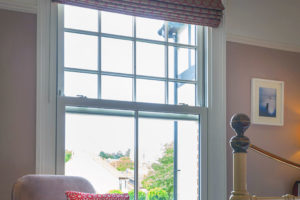 PVCu sliding sash window in white Bristol