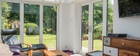 White uPVC french door
