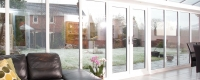 White uPVC french door and windows