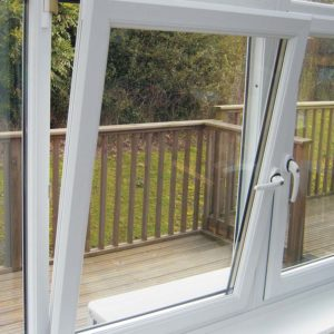 A tilt and turn window with double glazing