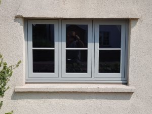 grey flush sash windows